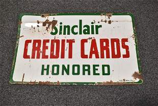 SINCLAIR D.S.P. CREDIT CARD SIGN