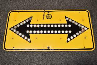 DEPARTMENT OF PUBLIC WORKS DOUBLE ARROW SIGN