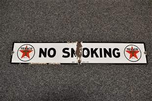 TEXACO NO SMOKING S.S.P. SIGN