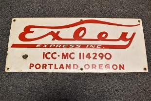 EXLEY EXPRESS PORTLAND OREGON TRUCK S.S.P. SIGN