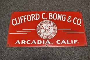 CLIFFORD BONG S.S.P. TRUCK SIGN ARCADIA CALIFORNIA