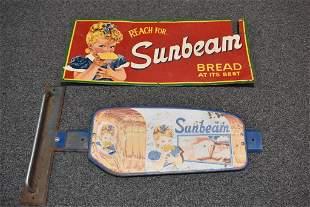 2 SUNBEAM BREAD SIGNS