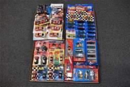 4 FLATS OF HOT WHEELS & NASCAR TOYS