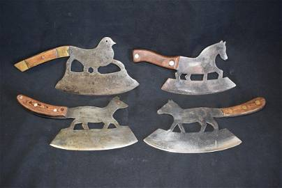 4 19TH CENTURY FRENCH FOOD CHOPPERS