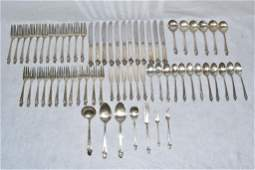 """67 PC. FRANK W. SMITH """"WOODLILY"""" STERLING FLATWARE"""