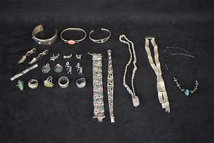 SHOWCASE OF STERLING JEWLERY