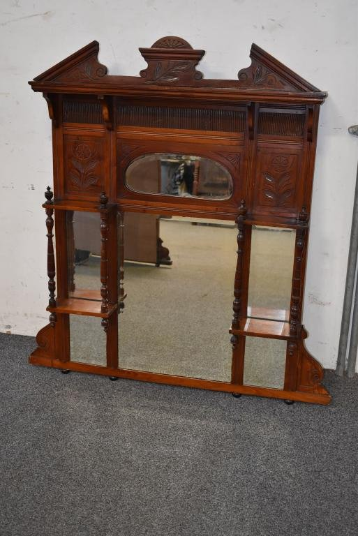 VICTORIAN OVER THE MANTLE MIRROR