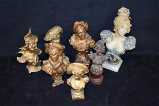 7 CAST METAL BUSTS