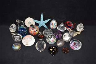 24 GLASS PAPERWEIGHTS