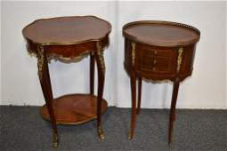 2 FRENCH STYLE LAMP TABLES