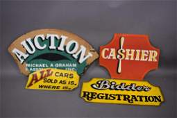 VON DUTCH GROUPING OF HAND PAINTED SIGNS