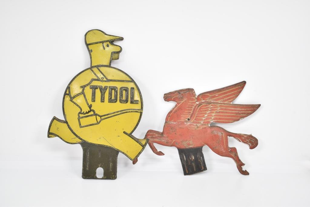 TYDOL & MOBIL OIL LICENSE PLATE TOPPERS