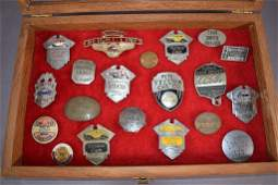 COLLECTION OF 20 CHAUFFEUR & TAXI BADGES