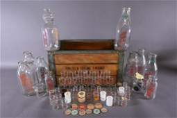 COLLECTION OF VINTAGE MILK & SMALL CREAMER BOTTLES