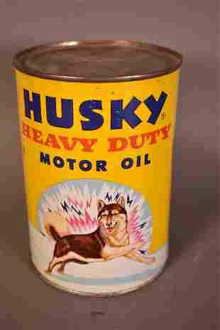 Husky Heavy Duty Motor Oil Yellow Quart Can