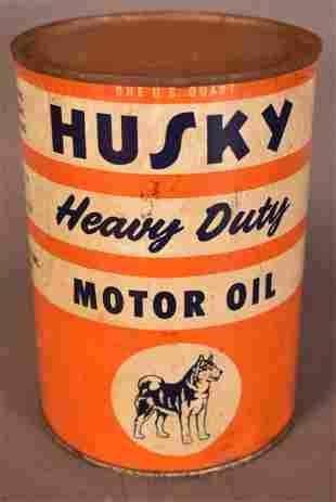 Husky Motor Oil w/small logo Quart Can