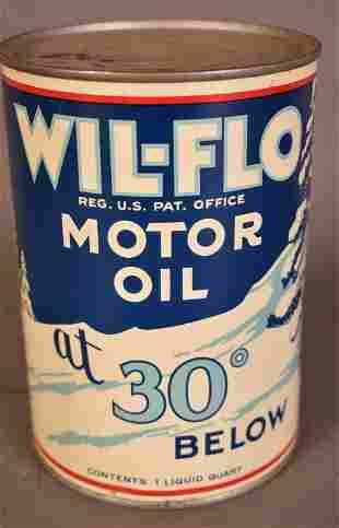 Wil-Flo Motor Oil at 30 Below Quart Can