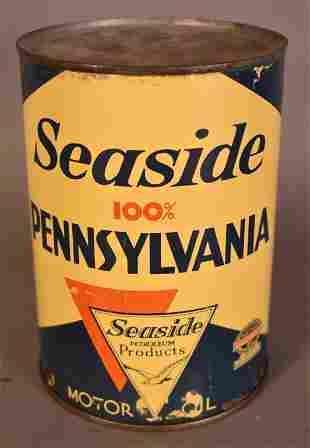 Seaside 100% Pennsylvania Motor Oil Quart Can