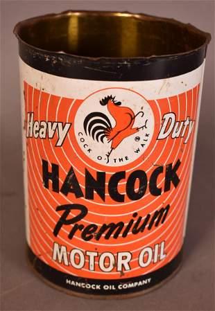 Hancock Premium Motor Oil Psychedelic Quart Can