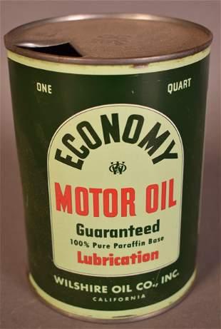 Wilshire (Polly) Economy Motor Oil Quart Can