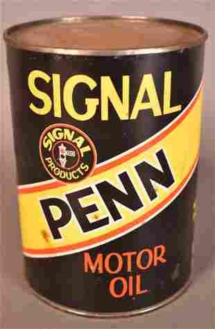 Signal Penn Motor Oil Quart Can
