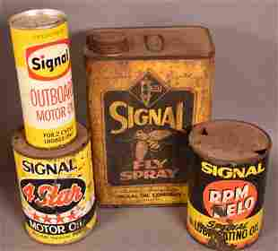 Group lot of Signal Cans