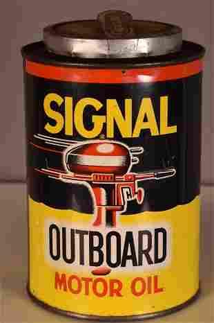 Signal Outboard Motor Oil w/logo Quart Can