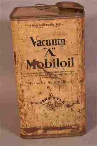 """Rare Mobiloil """"A"""" Motor Oil w/the Standing Gargoyl"""