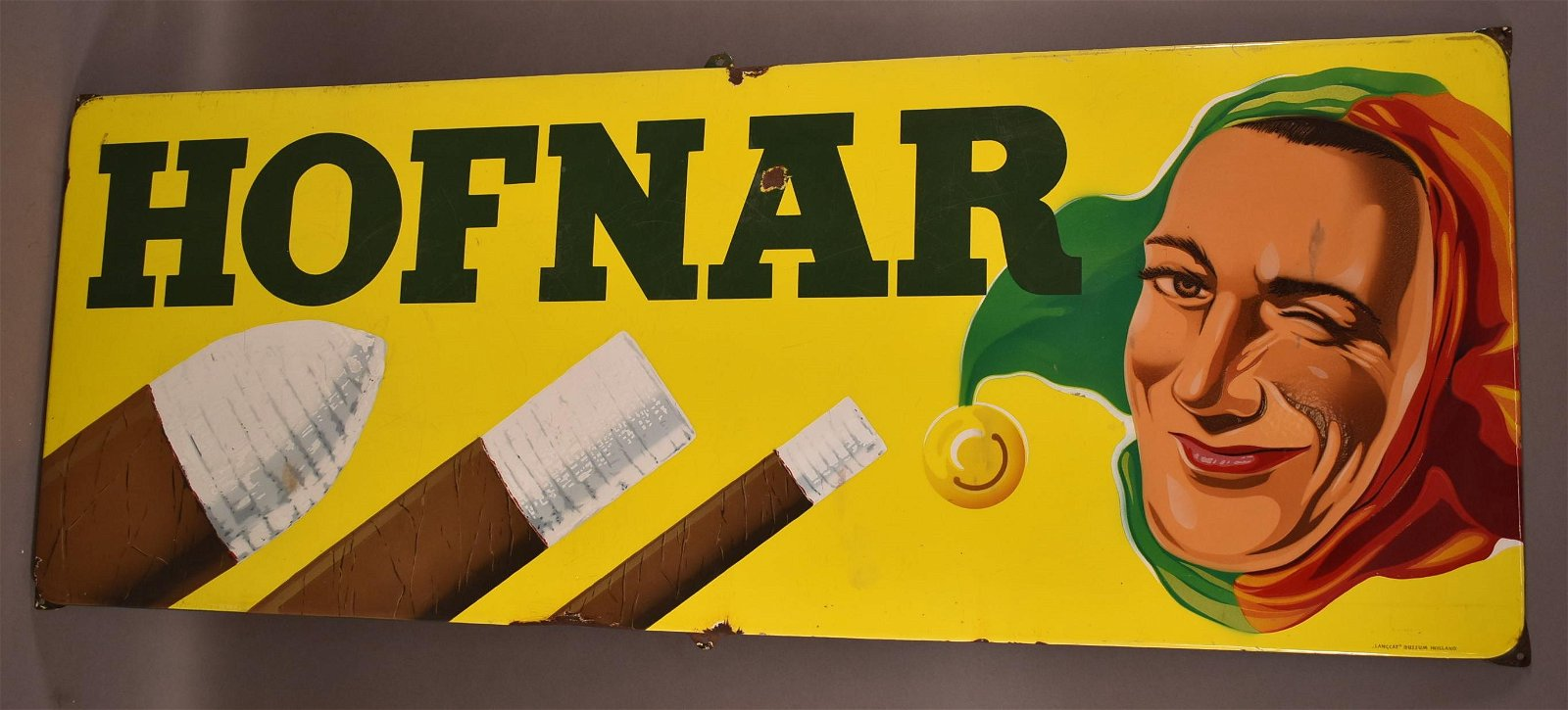 Hofnar (Cigar) Porcelain Sign
