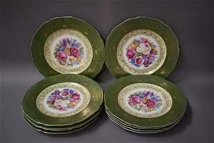 SET OF 10 BAVARIAN DINNER PLATES