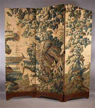 BILLY HAINES 3 PANEL TAPESTRY SCREEN