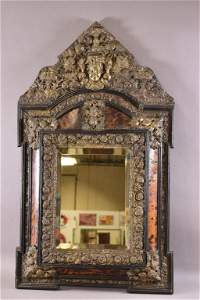 19TH C. NAPOLEAN III REPOUSSE MIRROR