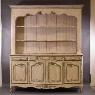 19TH C. FRENCH OPEN SIDEBOARD CUPBOARD