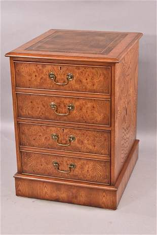 BURR ELM 2 DRAWER FILE CABINET BY SCULLY & SCULLY