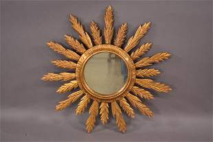 VINTAGE FRENCH SUNBURST MIRROR