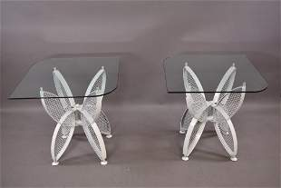 PR. BUTTERFLY END TABLES ATTRIBUTED TO SALTERINI