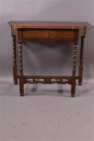 1920'S 1 DRAWER SPANISH STLE HALL TABLE