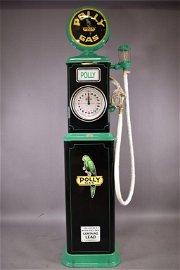RESTORED BENNETT 150 CLOCK FACE GAS PUMP