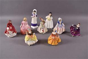 9 ROYAL DOULTON FIGURINES
