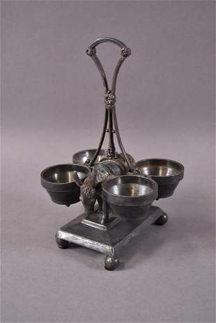 REED & BARTON VIC. S.P. DONKEY CONDIMENT HOLDER