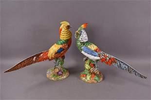 ITALIAN HAND PAINTED PORCELAIN BIRDS