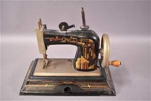 GERMAN BRITISH ZONE METAL CHILD'S SEWING MACHINE