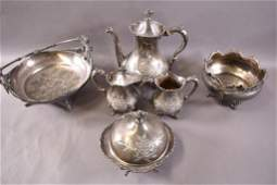 6 PIECES OF VICTORIAN SILVER PLATE