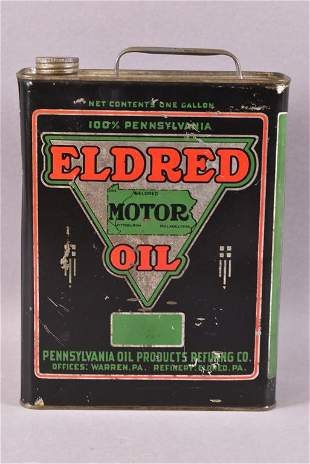 Eldred Motor OIl w/Logo One Gallon Can