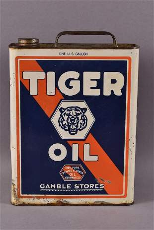 Tiger Oil Gamble Stores One Gallon Can