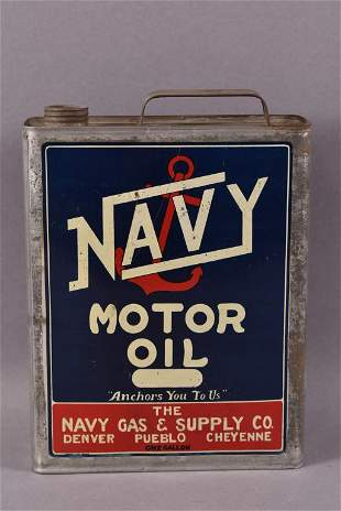Navy Motor Oil One Gallon Can