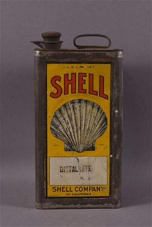 Shell Distallate One Gallon Embossed Can