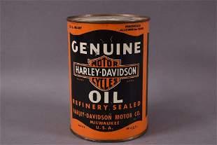 Harley Davidson Motor Oil Quart Metal Can