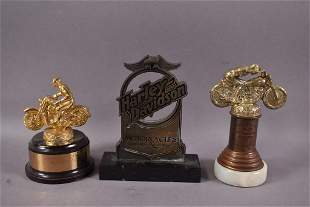 2-Motorcycle Trophies & HD Pieces