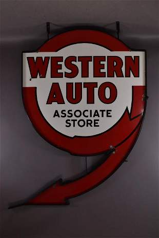 Western Auto Associated Stores Sign (TAC)